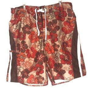 Joe Boxer floral pattern swimming trunks L